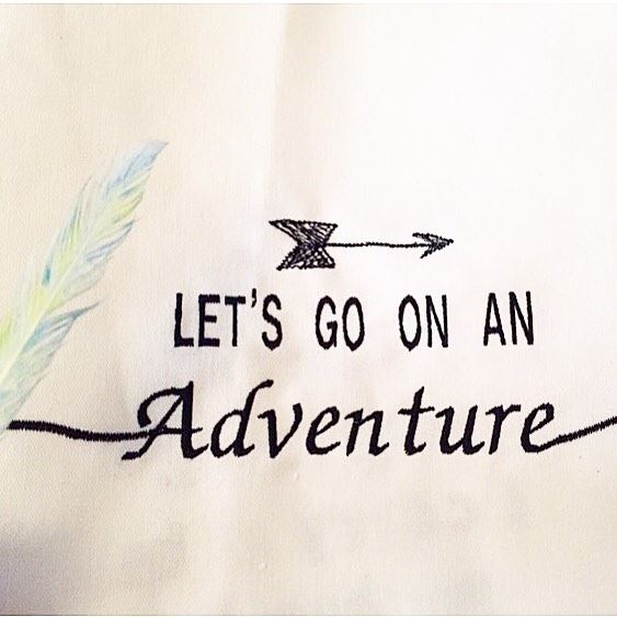 Going on an adventure ⛰ Write it on fabric by nid d'abeille  kids ...