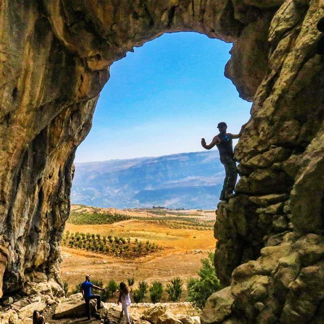 Caveman cave rocks Arch naturalbridge hike climb neverstopexploring...