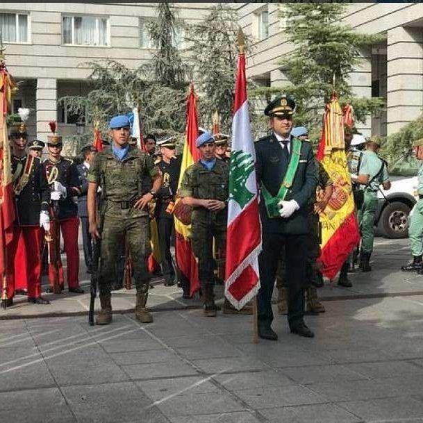 """ردًا على تحية """"فجر الجرود"""".. الجيش يرفع علم لبنان في وسط مدريد⠀⠀⠀⠀⠀⠀⠀⠀⠀ ⠀⠀"""
