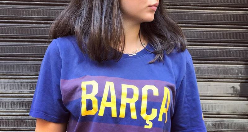 Not a Barça Fan, but the colors look good ⚽️🛵🎈 .... InspiredByYou... (شارع الحمرا Al-hamra)