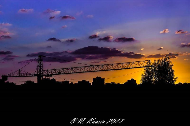 dusk sunset silhouette sky ig_great_shots ... (Sinn Al Fil, Mont-Liban, Lebanon)