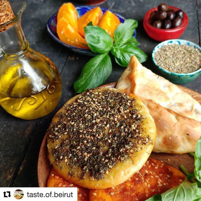 Best breakfast Repost @taste.of.beirut zaatar lebanesebreakfast ...