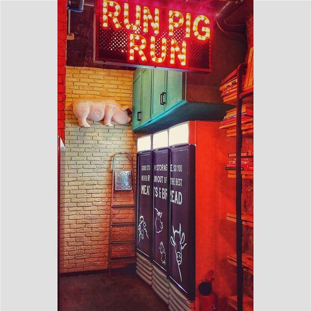 If you don't want to be Bacon..RUN PIG RUN 🐾..@meatsandbread.lb @ferdin (Meats and Bread)