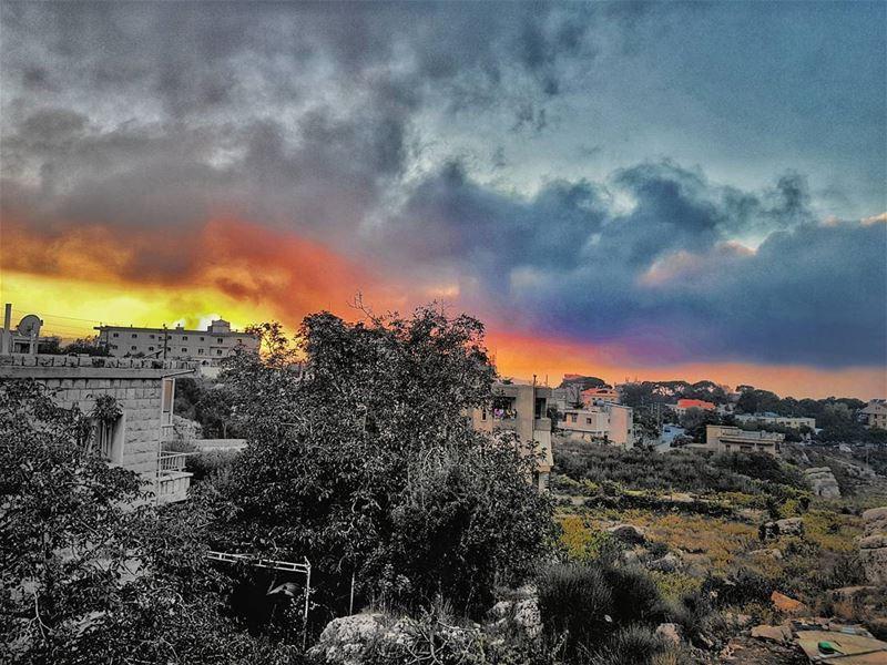 sunset_ig sunsets sunset sunsetlover lebanon ... (El Mroûj, Mont-Liban, Lebanon)