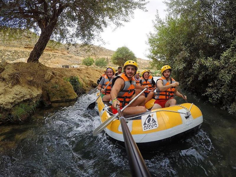 Some fun by @tarekkridly hermel hermel_city bekaa lebanon raft ... (Al Assi River-Hermel, Lebanon)