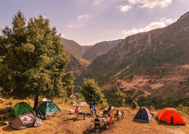 🏕🏕..... camping camp weekend adventure clouds sky mountains forest... (Chahtoul Kesrouan)