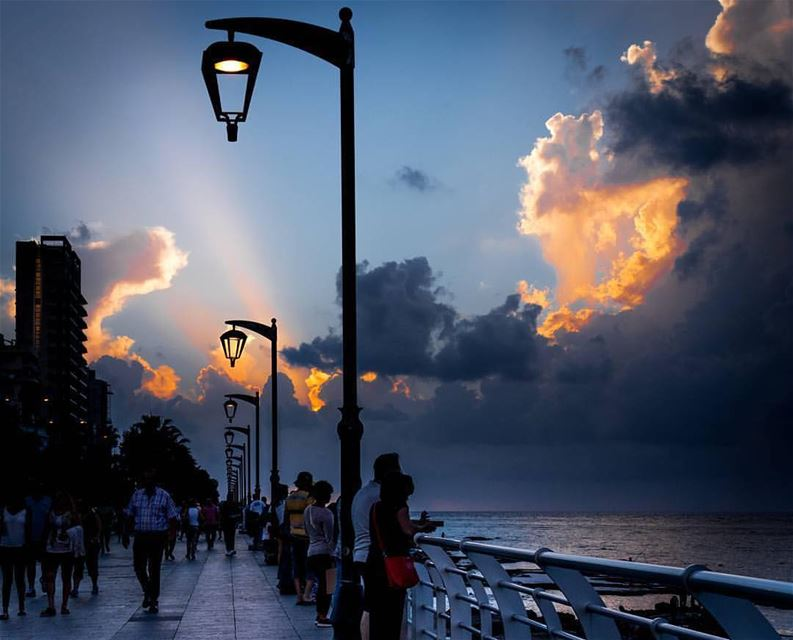 Always seeking for light in a world getting darker everyday.By @ced_harb ... (Ain El Mreisse, Beyrouth, Lebanon)