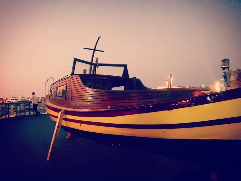 vintage from 1976 zaytounabay beirut boat woodenboat sunsetlovers ... (Zaitunay Bay)