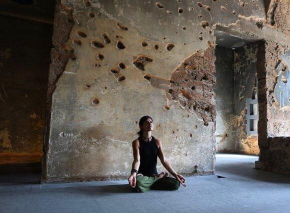 Good morning Beirut. Lebanese Yogi Danielle Abi Saab practices Yoga as...