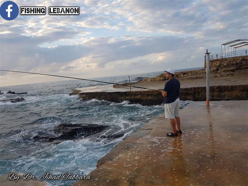 @jihadafiftabbara @fadimounla & @fishinglebanon - @sportingclubbeach @insta (Beirut, Lebanon)