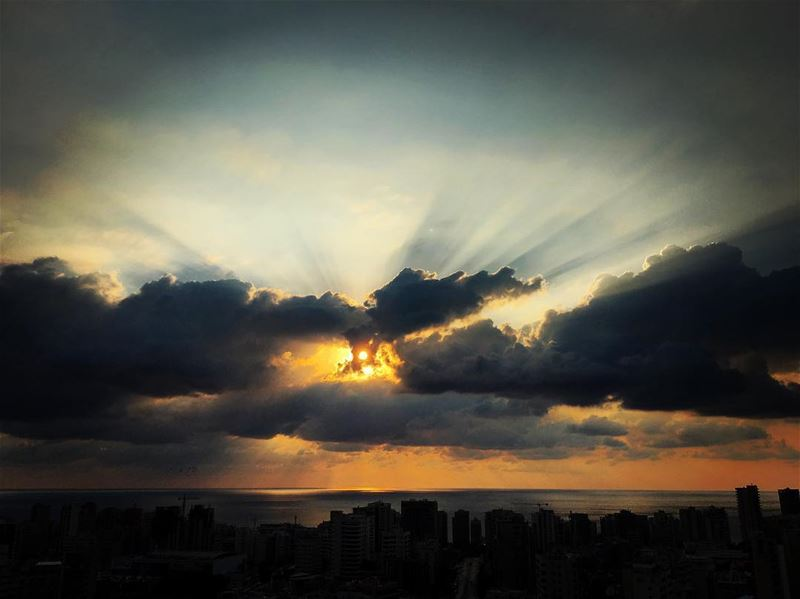 Rays of life penetrates cloud's darkness and prove that no matter what... (Beirut, Lebanon)