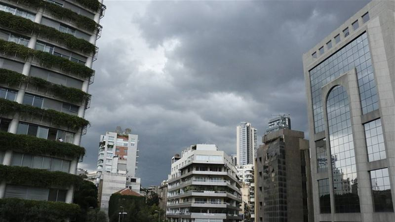 clouds in beirut are calling for a heavyrain guys... get your... (Achrafieh, Lebanon)