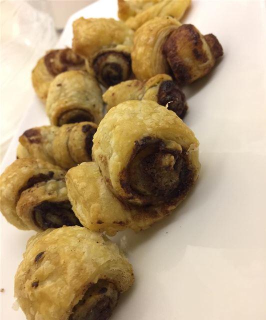 mini nutella rolls yum instafood foodporn lebanon ...