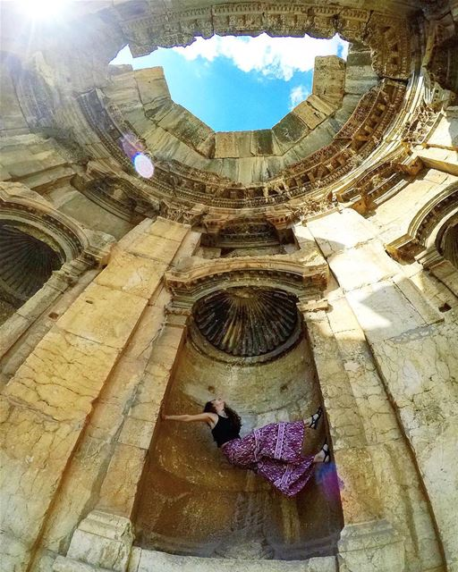 Tilt your head back and laugh at the sky flying101 🌞🎋⠀⠀⠀⠀⠀⠀⠀⠀⠀⠀⠀⠀⠀⠀⠀⠀⠀⠀ (Baalbeck, Béqaa, Lebanon)