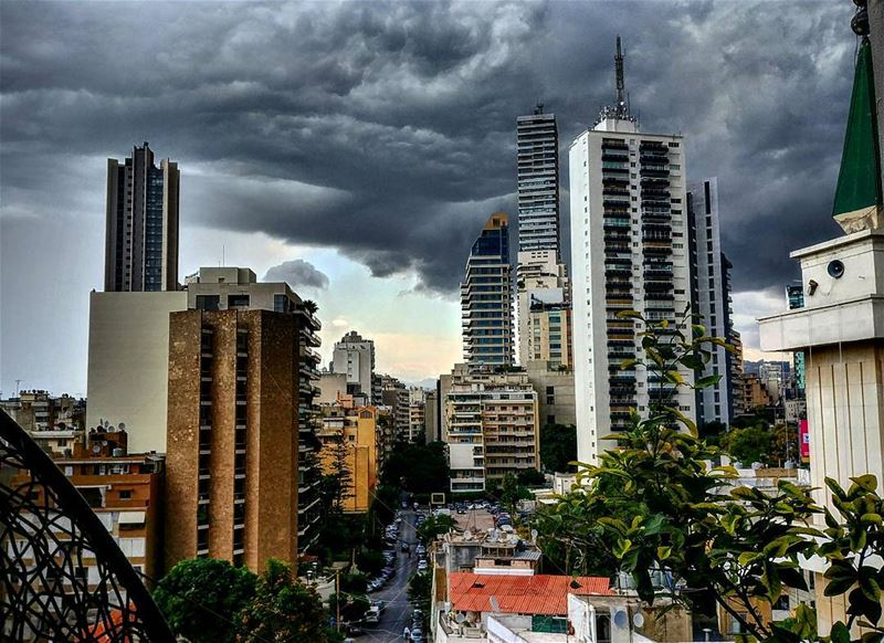 Beirut under the Storm...By Ghassan_Yammine storm beirut ... (Beirut, Lebanon)