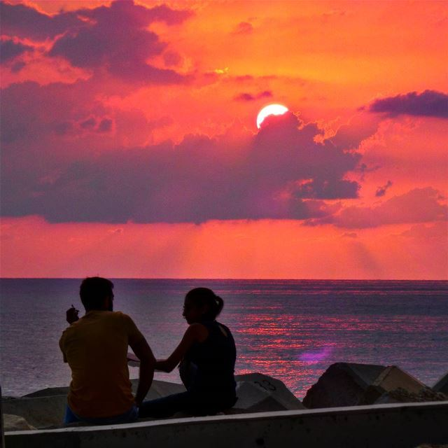 Meet me where the sun kisses the sea ~~~~~~~~~~~~~~ nikontop_ nikonworld... (Dbayeh, Mont-Liban, Lebanon)