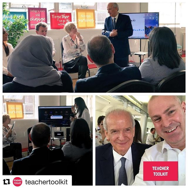 Repost @teachertoolkit (@get_repost)・・・Good to meet Marwan Hamadé,...