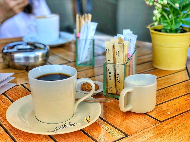 """Be Strong"" I whisper to my Coffee 🗣☕️... coffeetime morningcoffee ... (Le Gray, Beirut)"