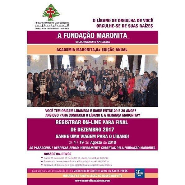 **CONVITE** Participe do concurso da @maroniteacademy para concorrer a uma...
