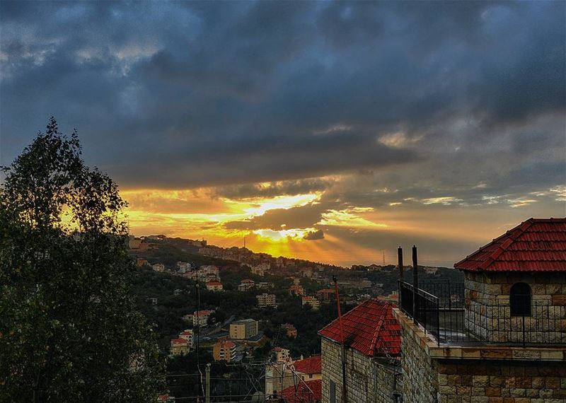 Sunset in Beit Chabab...By Ghassan_Yammine sunsetoftheday sunset_hub ... (Beït Chabâb, Mont-Liban, Lebanon)