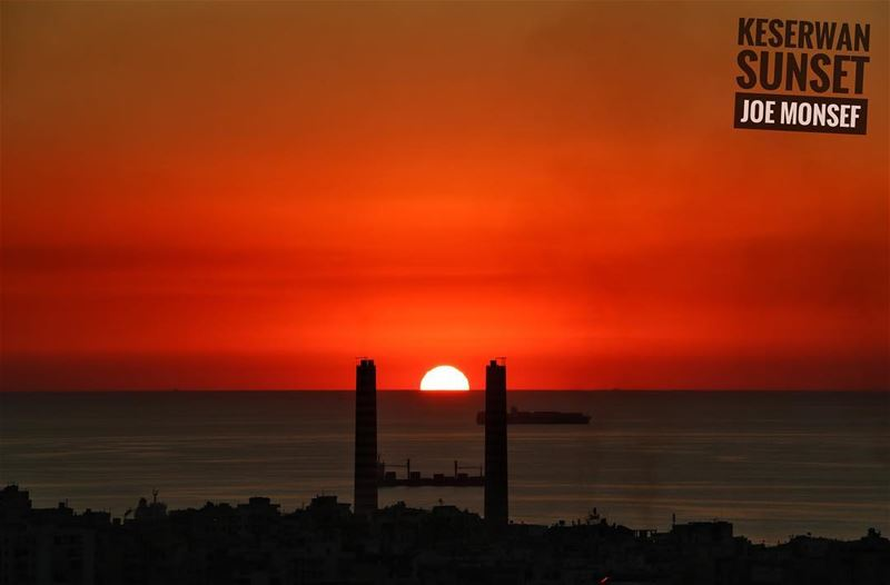 sunset orange sun sky photpgraphy lebanon jounieh ...