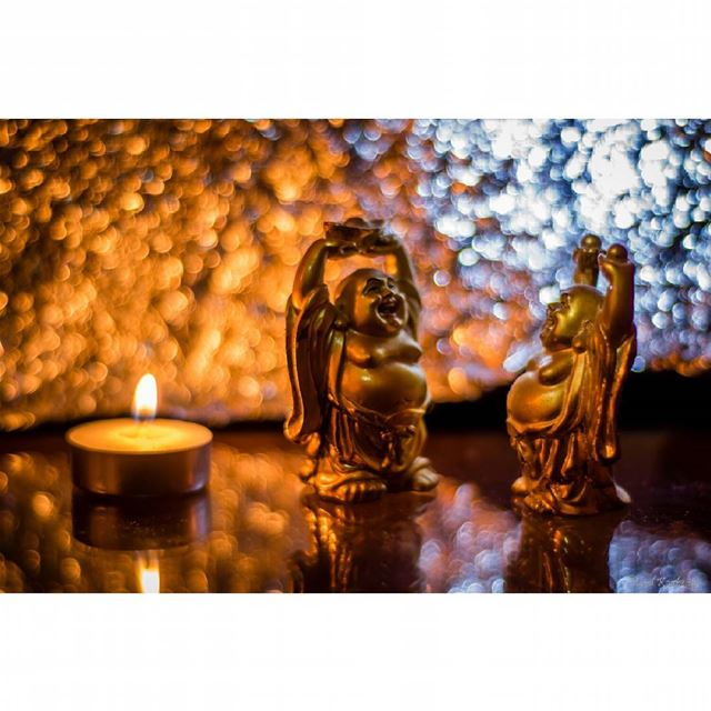 buddha statue golden light candle home smiling culture ...