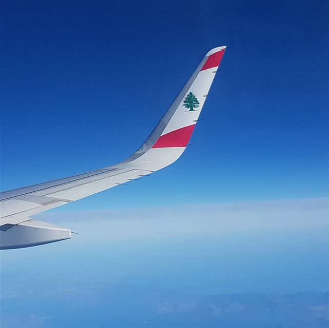 As I look out of the airplane window into the beautiful Beirut blue sky, I... (Beirut–Rafic Hariri International Airport)