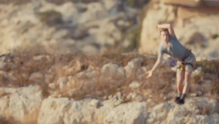 Connecting Beirut's rocks! 🇱🇧 @redbullleb RaoucheRocks ... (Pigeon Rock Beirut.)