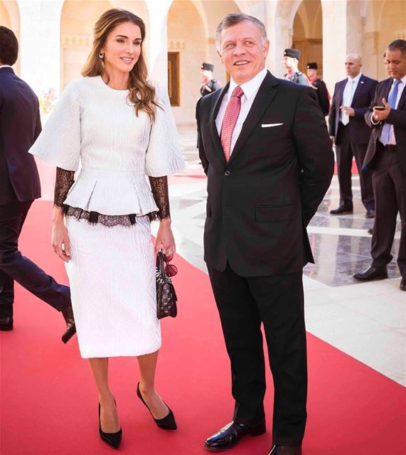 Her Majesty Queen Rania of Jordan looked elegant during the official...