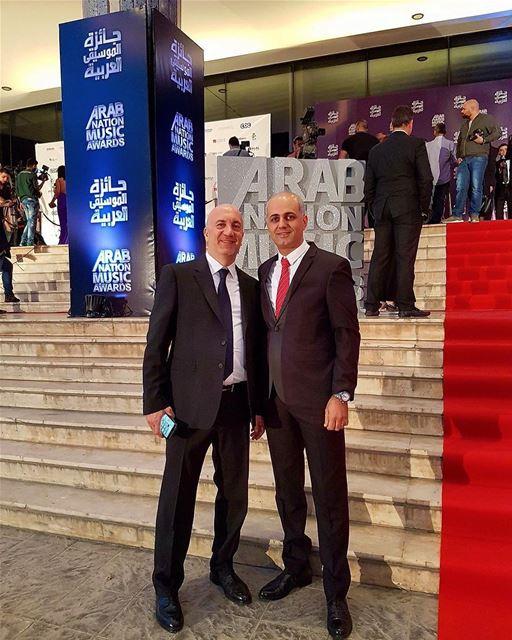 With Mr Jihad Al Murr. aghaniaghani mtvlebanon musicawards event lebanon... (جونية - Jounieh)