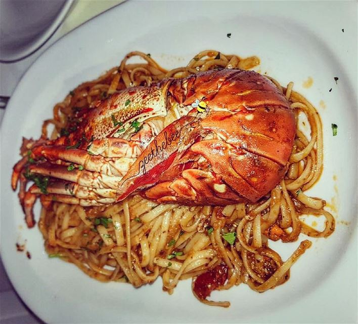 Hello Lobster 🙋🏻... lobsterspaghetti spaghetti seafood ... (Katerina's Restaurant & Cocktail Bar)