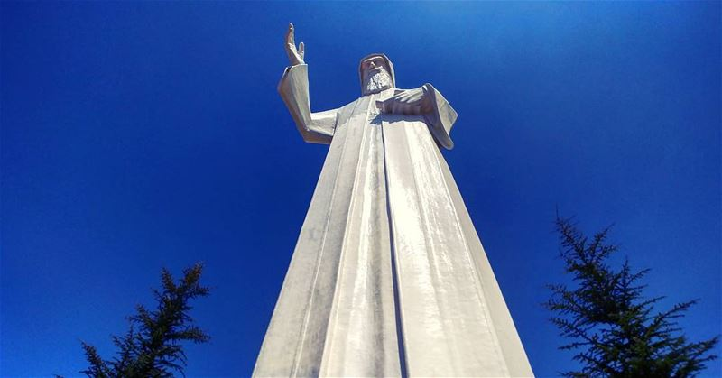 infiniteblessings... saintcharbel faraya statue lebanon saint ...