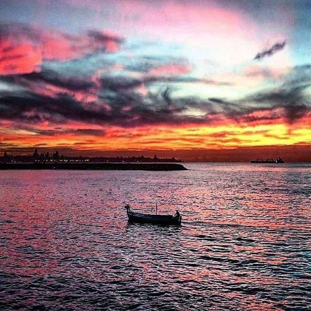 Calm is a super power 🚣~~~~~~~~~~~~~ nikontop_ nikonworld bns_sky ... (Dbayeh, Mont-Liban, Lebanon)