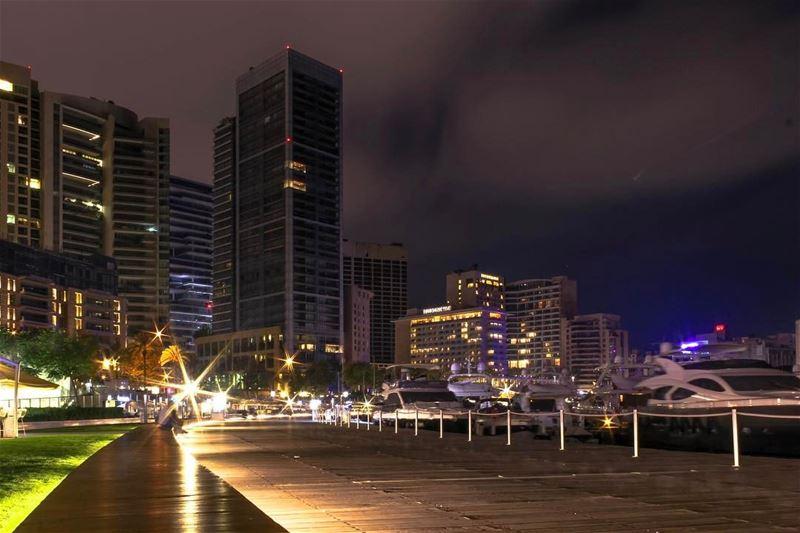 Beirut zaytunabay lebanon nightphotography sightseeing cityscape... (Zaitunay Bay)