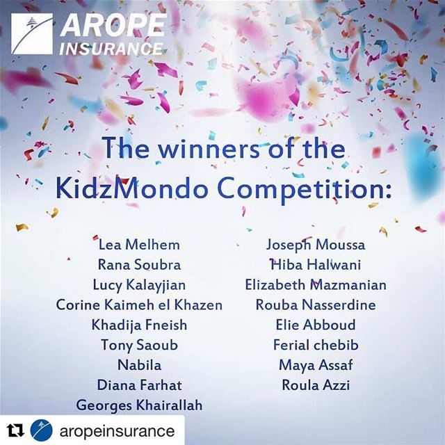Repost @aropeinsurance (@get_repost)・・・And the winners are..... @kidzmon