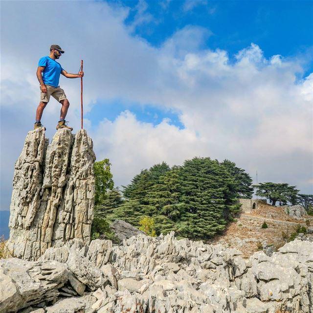 يا صخرة الفجر و قصر النّدي 🌲📸 By @chriskabalan hike rocks cedars ...