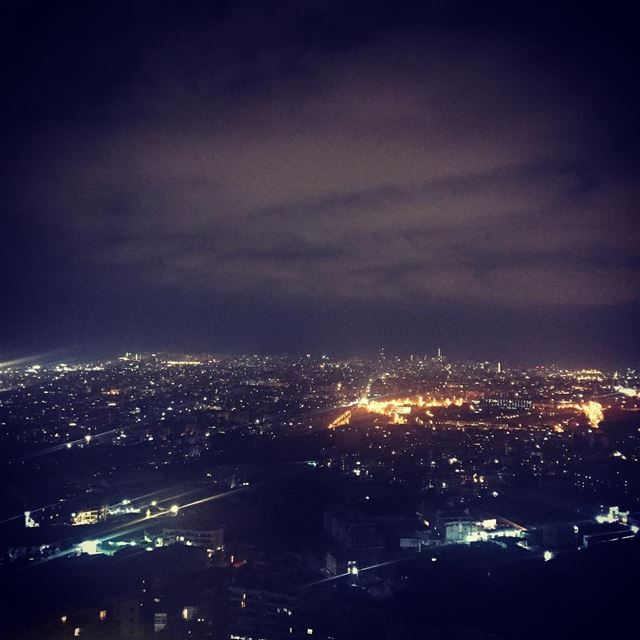 Beirut City at Night ❤️ onlyfiliban beirutcity viewatnight lebanon ... (Choueifat, Lebanon)
