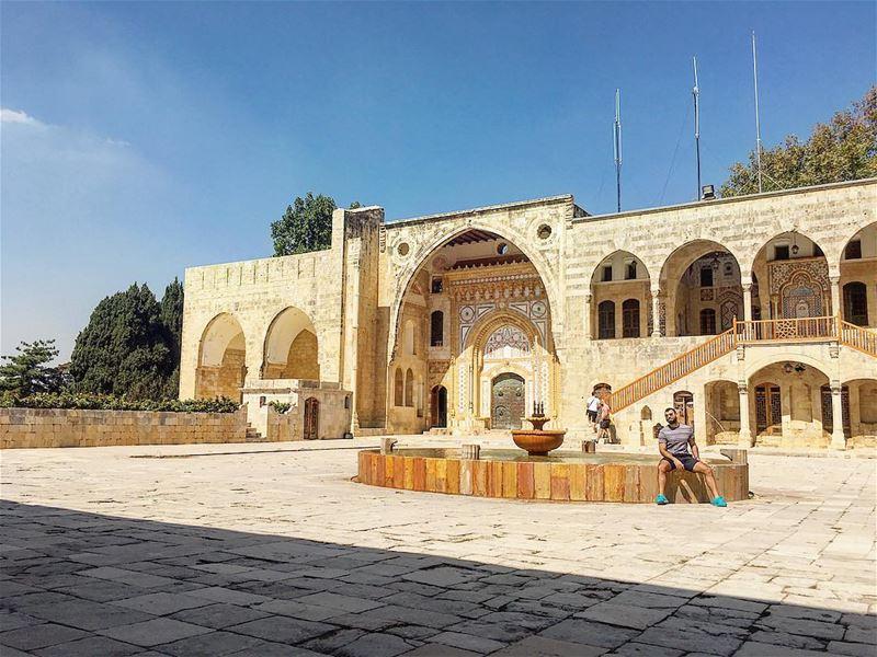lebanon architecture castle instagood wanderlust travelgram ... (Beiteddine Palace)