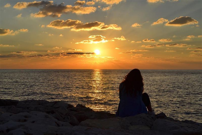 To each his sunset.. whatworksformaya discoveringlebanon adayinthesouth... (الناقورة / Al Naqoura)