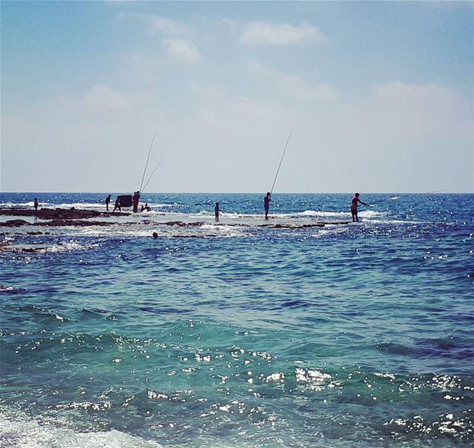 Goodbye summer 🌞🌊 sea beach fisherman livelovebeirut beautiful ...