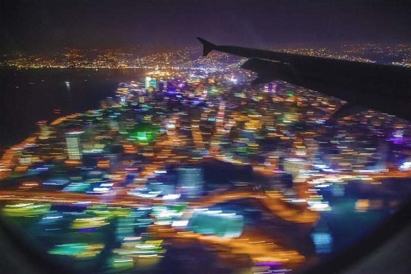beirut lebanon landing lightpainting photography ... (Beirut–Rafic Hariri International Airport)