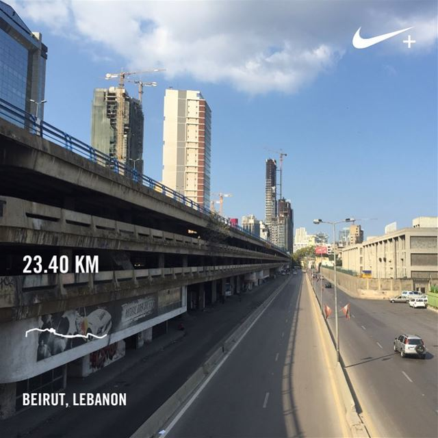 Road to  BeirutMarathon  sundayrunday  🏃🏻 beiruncrew  motivation ... (Beirut, Lebanon)