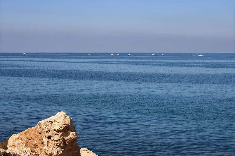 The sea today. Untouched photo blue sea seascape sealovers ... (Lebanon)