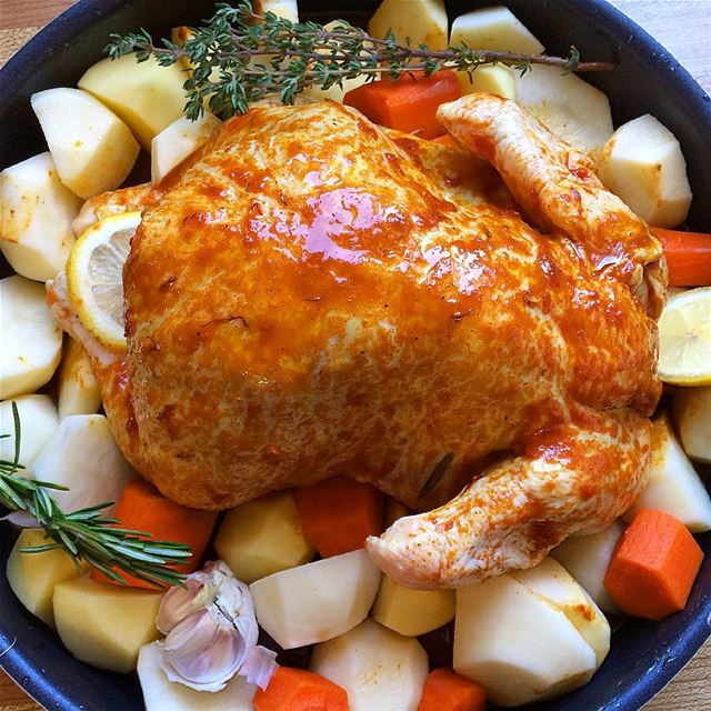 roastedchicken  legumes  lunch  dinner  eat  homerecipes  recette ...