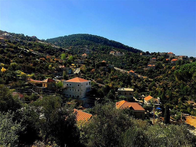 A village with no buildings, just independent houses 🏡 ........... (Hardîne, Liban-Nord, Lebanon)