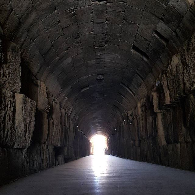 Walk towards The light lebanon tunnel roman ... (Baalbek, Lebanon)