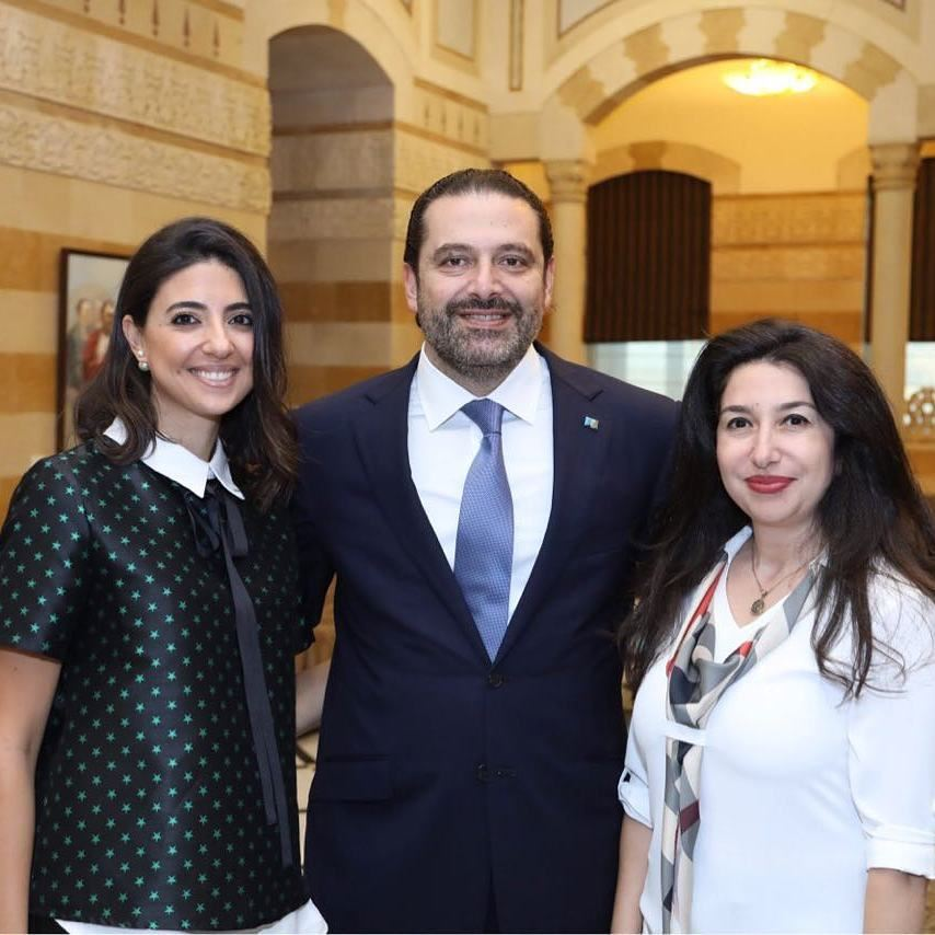 With our dynamic H.E Prime Minister Saad Hariri always supporting youth... (Grand Serail)