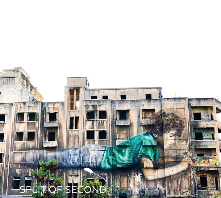 ❤️ A Cuban-American Artist Jorge Rodríguez Gerada has finished the first... (Beirut, Lebanon)
