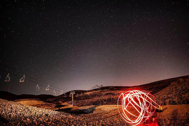 Starry Light show light lightshow circles longexposure ... (Kfardebian,Mount Lebanon,Lebanon)