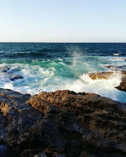 🌊••• lebanon beirut sunny beach beachlife sea seaside seaview... (Beirut, Lebanon)